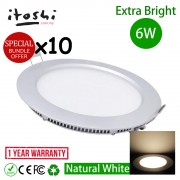 "6W 4"" LED Lighting Recessed Type Round Natural White 10pcs"