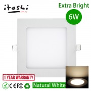6W LED Slim Panel Light for Plaster Ceiling Natural White
