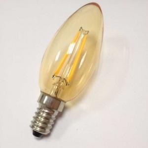 4W E14 LED Candle Bulb Retro Shop Restaurant Cafe Decorative Lighting Amber Warm White
