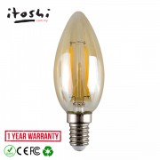 4W E14 LED Candle Bulb Retro Shop Restaurant Cafe Decorative Lighting Amber Warm White