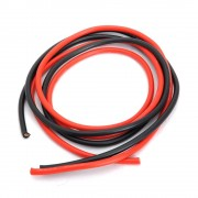 Battery Cable / DC Cable 6mm Flexible Silicone Wire 1 Meter (1 Pair Black & Red )