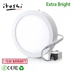 18W Surface Mounted LED Downlight Ceiling Light Round Daylight x 3pcs
