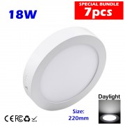 LED Surface Downlight Surface Ceiling Light Round 8 inch 18W Daylight 7pcs