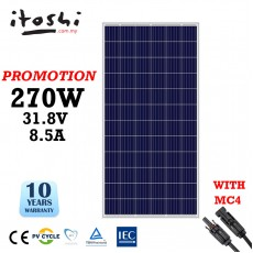 270W Solar Panel Poly Cell Solar Energy System
