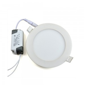 18W 6 Inch Led Panel Downlight Round LED Ceiling Recessed Light Daylight White 10pcs Package  without LED Driver cut out size 175mm