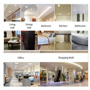 LED Round 4˝ 12W Panel Light Downlight Ceiling light Lamp Daylight 12pcs Package without LED Driver cut out size 130-135mm