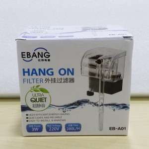 3W EBANG Hang On Filter Aquarium Fish Tank Hanging Filter 280 L Dophin
