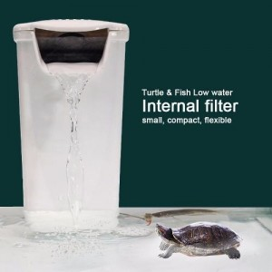 EBANG Aquarium Hang On Filter Low Water Filter Turtle Fish Reptile Tank Hanging Filter 200 L Dophin