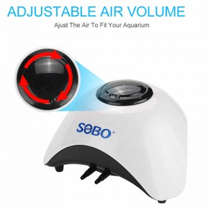 SOBO Fish Tank Oxygen Air Pump Adjustable Outlet Aquarium Inflation Air Compressor 6L/min SB 830A Aquaponics