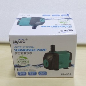 1200L Submersible Water Pump Mini Fountain Pump for Aquarium Fish Tank Pond Water Gardens Hydroponic Systems EB-305