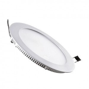 12W Round LED Recessed Slim Panel Downlight Natural White Color