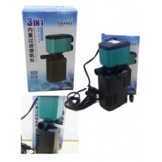 EBANG 3 In 1 Filter Oxygen Pump Aquarium Fish Tank 850 L EB-P2