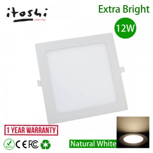 12W 6 Inch Square LED Ceiling Display Light Natural White