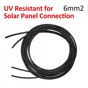 2 x 4 Meter UV Resistant PV Solar Cable 6mm2 for Solar Panel Connection