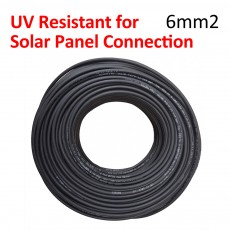 2 x 50 Meter PV Solar Panel Extension Wire UV Protection 6mm2 PV Cable