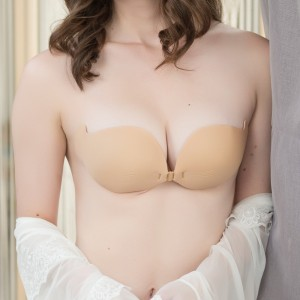 Seamless Breathable NuBra Vbra Push Up Bra LuBra Silicone Invisible Bra Wedding Gown Dress