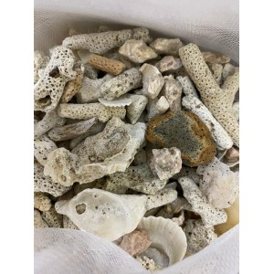 2.5KG Aquarium Natural Coral Stone Washed Coral Sand Filter Media with Net bag